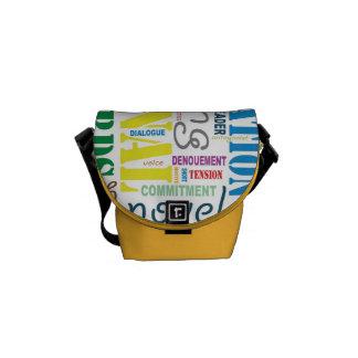 Fiction Writer's Word Art Handbag Commuter Bag