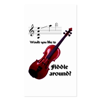 Fiddle around business card -for musicians