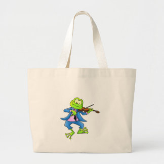 Fiddle Frog Large Tote Bag