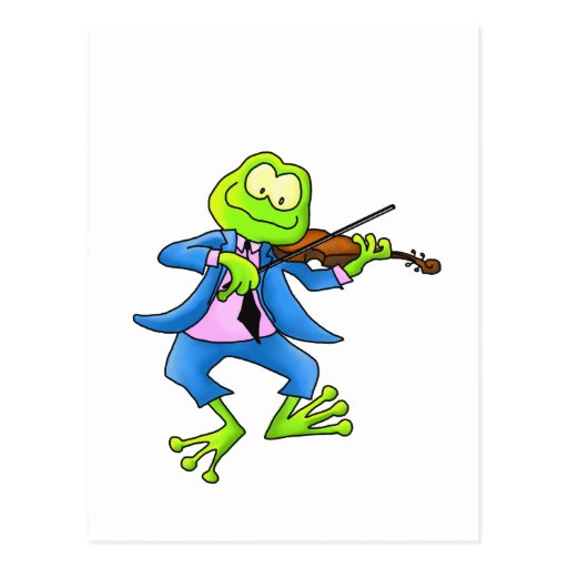 Fiddle Frog Post Cards