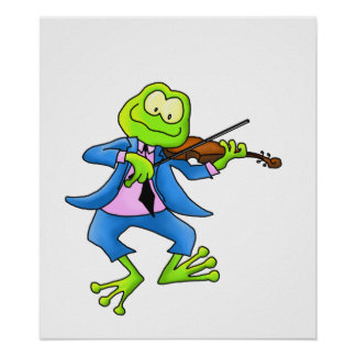 Fiddle Frog Poster