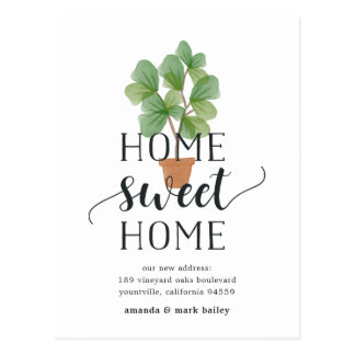 Fiddle Leaf Fig | Moving Announcement Postcard