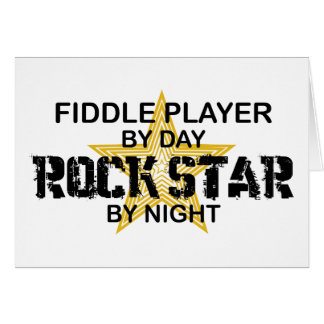 Fiddle Player Rock Star by Night Card
