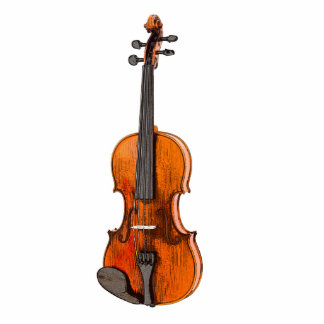 Fiddle Violin 3D Photo Cutout