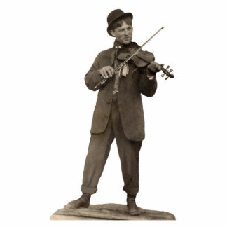 Fiddle Violin Player customizable 3D Photo Cut Out