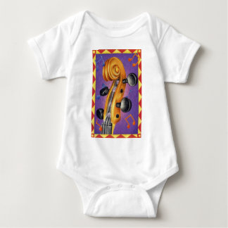 Fiddle with a Border Baby Bodysuit