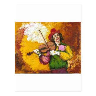 "Fiddler Clown ""Dubie Hummingbyrd"" Post Cards"