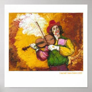 "Fiddler Clown ""Dubie Hummingbyrd"" Print"