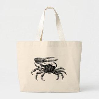 Fiddler Crab Drawing Large Tote Bag