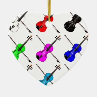 Fiddles Ceramic Heart Decoration