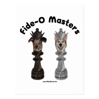 Fide-O Masters Chess Dogs Postcard