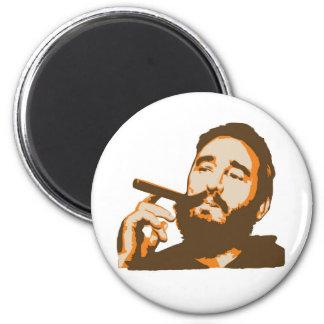 Fidel Castro with Cigar Portrait Magnet