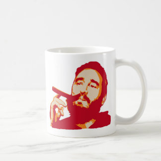 Fidel Castro with Cigar Portrait Mug