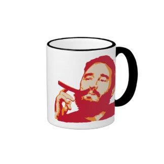 Fidel Castro with Cigar Portrait Mug
