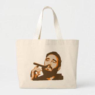Fidel Castro with Cigar Portrait Tote Bag