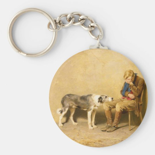 Fidelity by Briton Riviere Key Ring