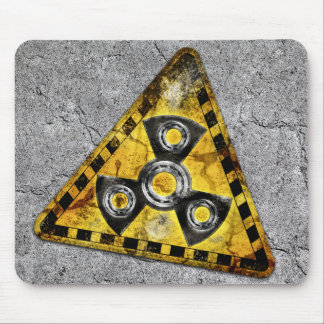Fidget Spinner Nuclear Radiation Warning Triangle Mouse Mat