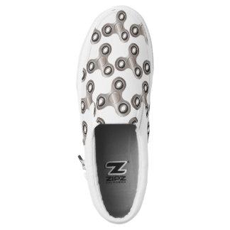 Fidget Spinner Silver Gray Slip On Sneaker