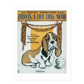 Fido Is A Hot Dog Now Vintage Songbook Cover Postcard