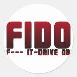 FIDO ROUND STICKER