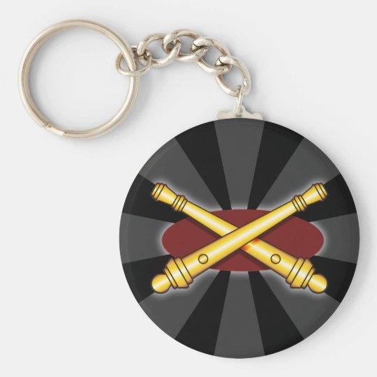 Field Artillery Basic Round Button Key Ring