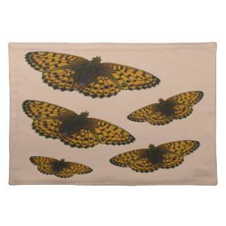 Field Brown butterfly place mats