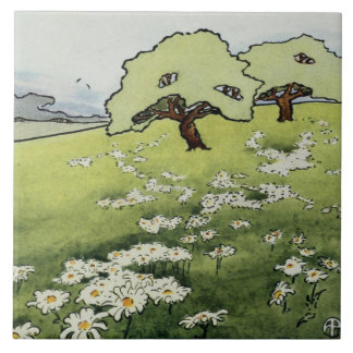 Field Daisies tile