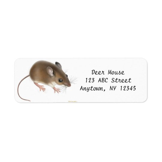 Field Deer Mouse Customisable Avery Label