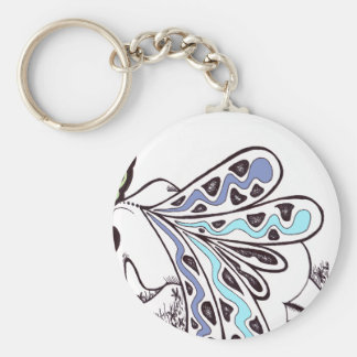 Field Fairy Basic Round Button Key Ring