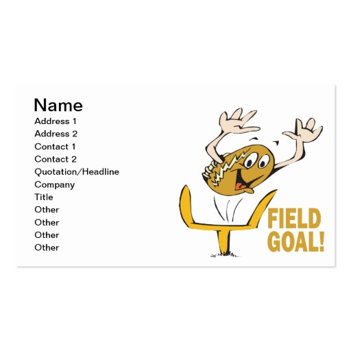 Field Goal Business Cards