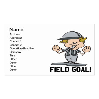 Field Goal Pack Of Standard Business Cards