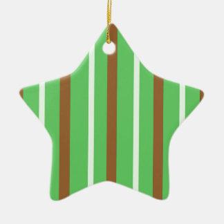 Field Green Stripes Christmas Ornament