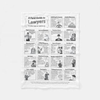 Field Guide to Lawyers Fleece Blanket