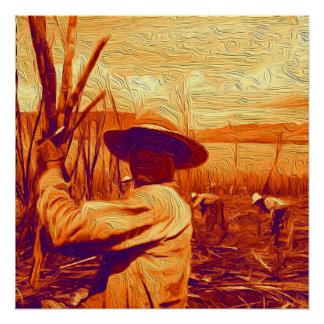 Field Hands Harvesting Sugar Cane