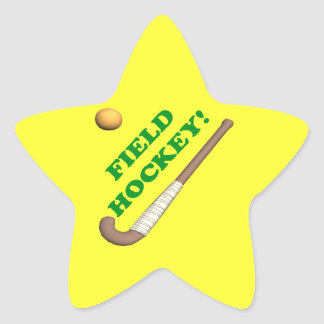 Field Hockey 2 Star Sticker