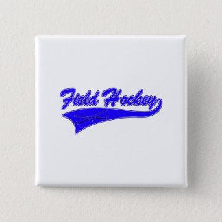 Field Hockey Blue 15 Cm Square Badge