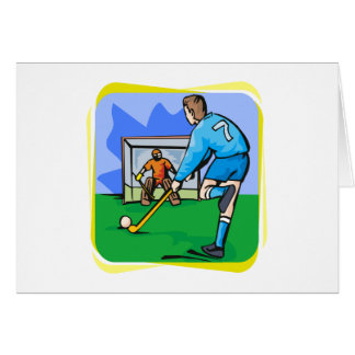 Field Hockey boy 7 play Card