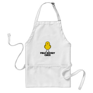 Field Hockey Chick Adult Apron