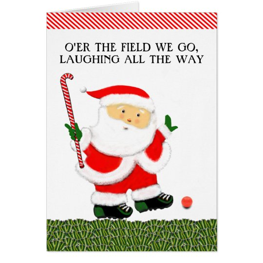 Field Hockey Christmas Card
