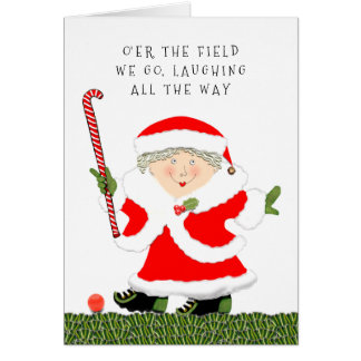 field hockey Christmas Greeting Card