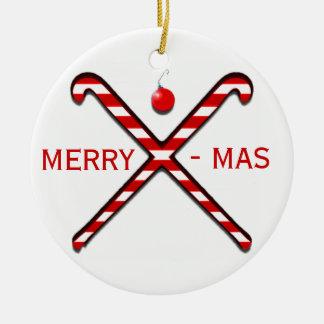 Field Hockey Christmas Ornament
