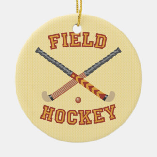 Field Hockey Christmas Ornament