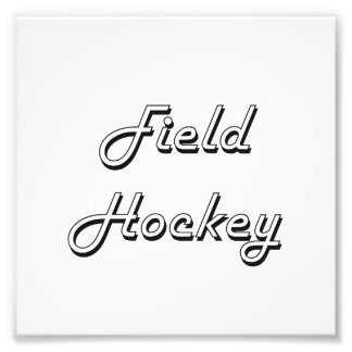 Field Hockey Classic Retro Design Photo