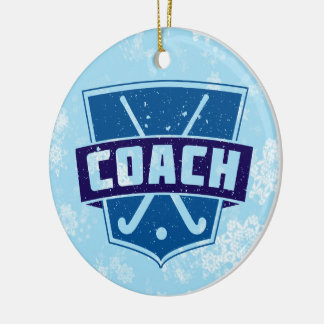 Field Hockey Coach Christmas Tree Decoration