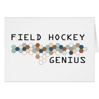 Field Hockey Genius Card