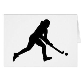 Field hockey girl card