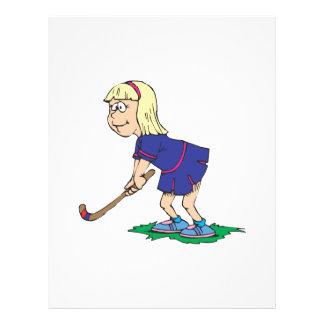 Field Hockey Girl Player 2 21.5 Cm X 28 Cm Flyer