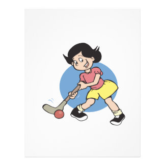 Field Hockey Girl Player Personalized Flyer