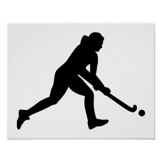 Field hockey girl poster