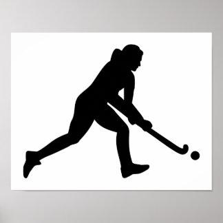 Field hockey girl poster